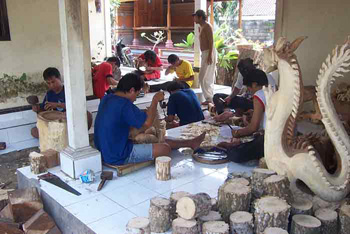 wood carving supplier Bali