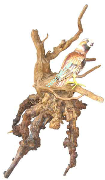 Eagle On Free Style Bonsay Root Made Of Wooden From Bali Indonesia