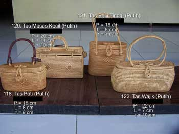 Bali Natural Bag In Any Model And Size Made Of Rattan Cotton
