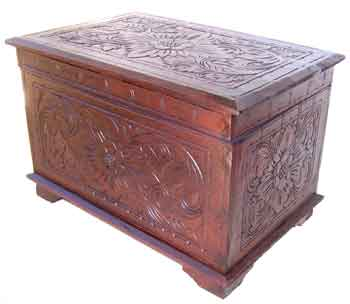 Wooden box with carving balinese style